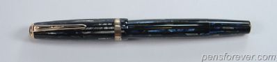 PARKER DUOFOLD VACUMATIC SR. IN BLUE PEARL STRIATED
