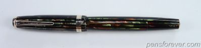 PARKER DUOFOLD VACUMATIC SR. IN GREEN PEARL STRIATED