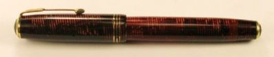 Oversize vacumatic - burgundy - lock down filler