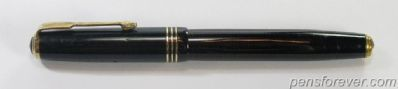 PARKER SLENDER VACUMATIC IN BLACK, 3 CAP BANDS - LOCK DOWN FILLER